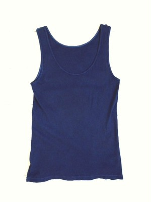 ◆100%自然素材 天然灰汁発酵建て 本藍染◆ オーガニックコットン100% タンクトップ