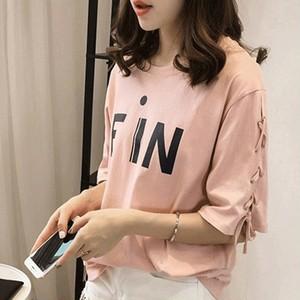 【トップス】合わせやすい大きいサイズアルファベットTシャツ18689178