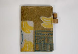 ダンボールで作ったA6判(文庫版)手帳カバー バナナアンドミルク