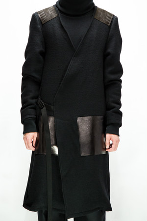 18AW No Collar Shooting Coat