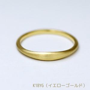 カワイイぷくっと甲丸の結婚指輪【K18イエローゴールド(K18YG)】ペアリング【AWM-012】