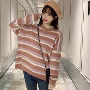 【トップス】清新ファッションボーダー柄セーター
