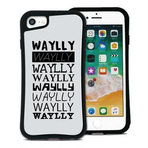 メインロゴ Tロゴ ホワイト セット WAYLLY(ウェイリー) iPhone 8 7 XR XS X 6s 6 Plus XsMax対応!_MK_