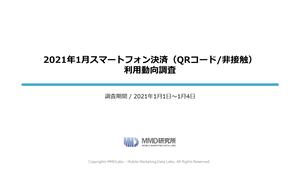 2021年1月スマートフォン決済(QRコード/非接触)利用動向調査