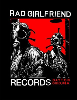 rad girlfriend records / t-shirt black:small
