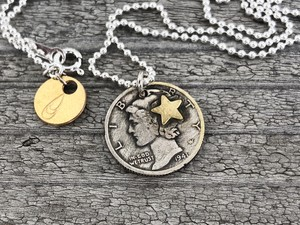 Button Works ボタンワークス Mercury Dime Coin Necklace-FC