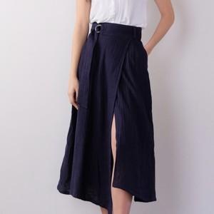Linen skirt / INDIGO