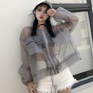 【outer】ファッション透かし彫りフード付きカーディガン21862669