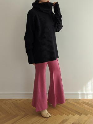 Double Face Bell Bottoms - Pink