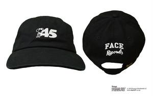 45'S CAP / BLACK × WHITE / SIZE FREE