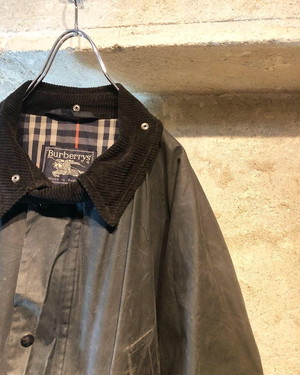 80〜90's Burberry wax cotton jacket