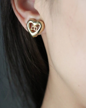 Christian Dior heart earrings
