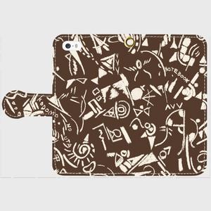 [Origin]iPhone5/5s/SE ショコラ 手帳型スマホケース