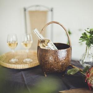 クイ族の花活けカゴ ダークカラー ワインクーラー ウォータープルーフ