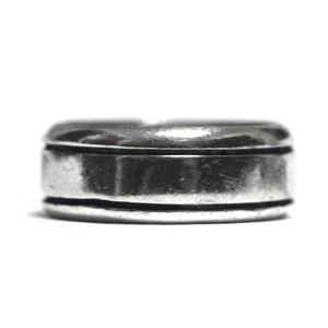 Vintage Sterling Silver Mexican Two Line Ring