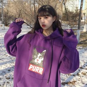 【トップス】韓国系アルファベットフード付きパーカー25684879