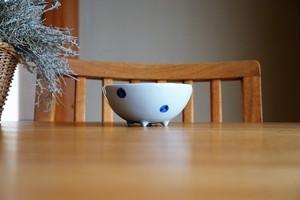 砥部焼/コロコロ鉢(大)/水玉/梅乃瀬窯