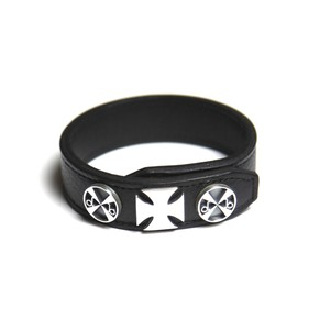 deaf breed/デフブリード Custom leather bracelet-B