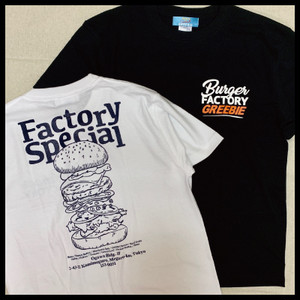 Burger Factory Tee【WHITE/BLACK】