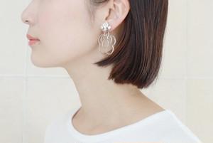 malamute × somnium cattleya earring[silver]