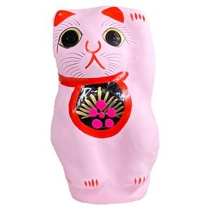 【恋愛成就】張り子招き猫(桃)