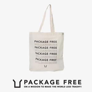 Package Free shop Double Sided Shop Tote エコバッグ【3613384044-wht】