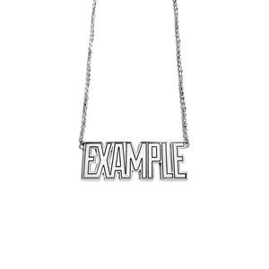【限定受注販売】 EXAMPLE x GARNI EXAMPLE LOGO PENDANT SILVER TOP(BIG)