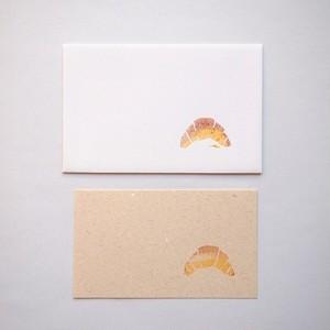ツメサキの世界 パンのメッセージカード クロワッサン