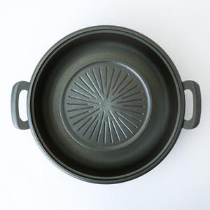 五進 / 焼きしゃぶ鍋 / アルミ / 30cm / ムーガタ鍋