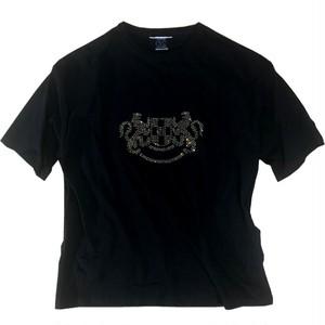 向かい獅子・ゴールドラインストーンTシャツ