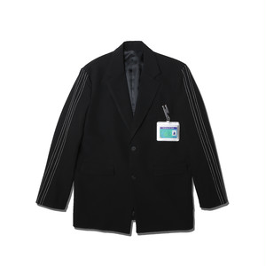 SIDE STICH TAILORED JACKET / BLACK