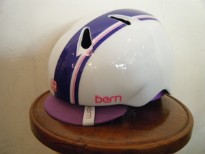 bern nina (ガールズ用) Gloss Purple Racing Stripe