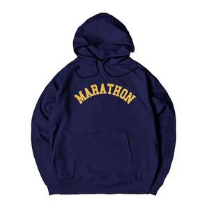 COLLEGE LOGO M HOODIE M381505-NAVY / フード スウェット パーカー ネイビー 紺 MARATHON JACKSON マラソン ジャクソン