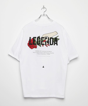 LIMITED Hand Rose Embroidery T-shirt [White]