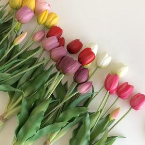 【high quality】artificial flower - tulip 8colors / チューリップ 造花 リアル 韓国 インテリア 雑貨