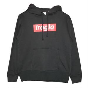IROGLO(イログロ)×N°D(ナンバーディー)BOX LOGO/裏起毛/プルオーバーパーカー/ブラック