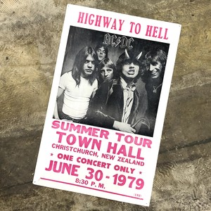 AC/DC 1979 HIGHWAY TO HELL TOUR POSTER エーシーデーシー ビンテージ ポスター