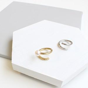 ■spiral pearl ring -gold-■ スパイラルパールリング ゴールド