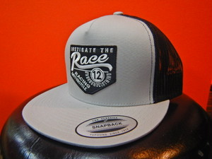 RACE ongroundclothingキャップ  ライトグレー