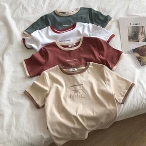 【送料無料】全4色♡レトロタイプ♡ちびTシャツ♡