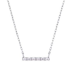 K10WGダイヤモンドネックレス 020209002439