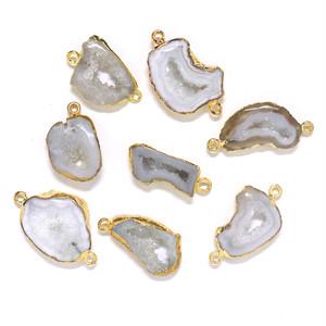 [天然石 パーツ]ドゥルージーアゲート(ホワイト)1個