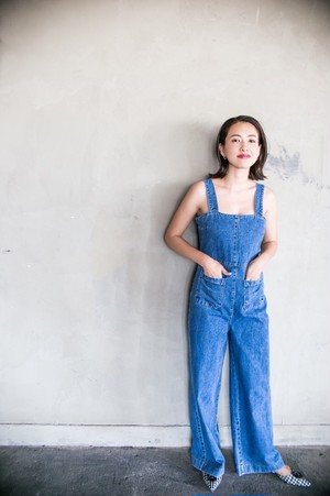 otona denim salopette