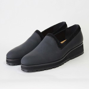 steer×nuback slip-on/BLK,GRY/l.o.b【即納】