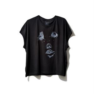 hntbk2022 Nao FACE スリーブレスTシャツBLACK