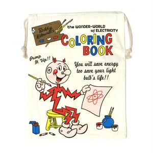 【即納】巾着袋 アメリカンロゴ COLORING BOOK z-037-book