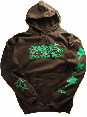 NINJA X(パーカー)Straight Edge Pullover Hoodie Original Dark Chocolate ニンジャエックス 5171-Brown