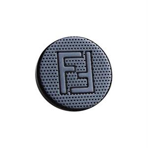 【VINTAGE FENDI BUTTON】ピンドット ネイビーロゴ ボタン 14mm