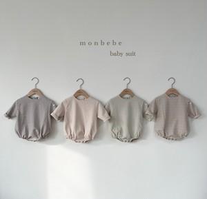 『翌朝発送』border baby-suit【baby】〈monbebe〉