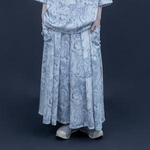 【オーダー受付】Hakama-Pants1.1 (blue marble)